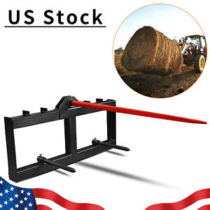 3 Point Hay Bale Spear Attachment 49 inch Tractor Skid Steer Loader Quick Tach