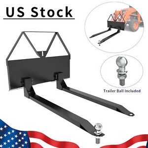 Skid Steer Loader Tractor Pallet Forks 46 Tractor Forks Quick Tach Attachment