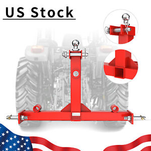 3 Point Gooseneck Receiver Hitch Trailer Mover Ball Drawbar Cat 1 Spear Receiver