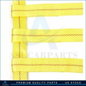 2x Car Tow Dolly Straps Tire Basket 12000lbs High Quality Yellow