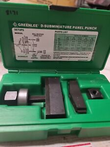 Greenlee 234 37 pin D subminiature Panel Punch Ed4u 8171
