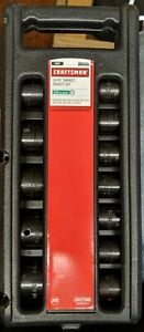 Craftsman Sae 12 Pc 1 2 In Dr 6 Point Impact Socket Set W Case New Cr
