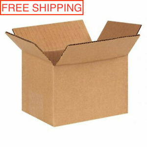 100 New 6x4x4 Corrugated Packing Shipping Boxes Cartons