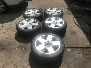 five 18 Inch Wheel Rims With Yokohoma Tires Size 245 45 r18