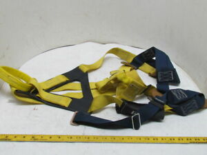 Full Body Safety Harness Climbing Gear Fall Protection Polyester Web Sz Large Lg
