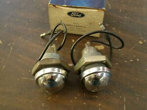 Nos Oem Ford 1964 1972 Truck Pickup Bumper Lamps 1965 1966 1967 1968 1969 1970