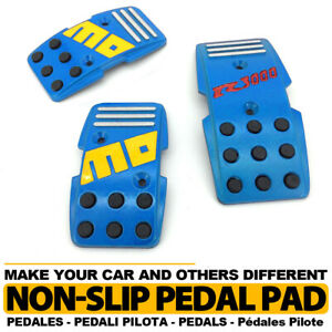 Universal Manual Mt Racing Sport Truck Car Non slip Pedals Pad Covers Set Blue