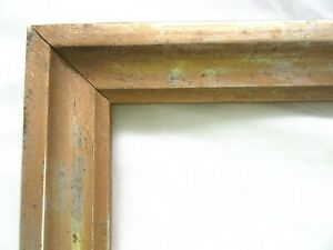 Antique Fits 8 X 10 Gold Picture Frame Wood Fine Art Country Primitive Gesso