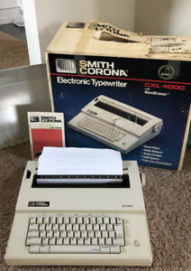 Vtg Smith Corona Electronic Typewriter Cxl4000 Original Box manual Included Euc
