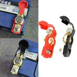 Cars Durability Battery Terminal Connectors Clip Cable Clamp Top Post Guard 2x