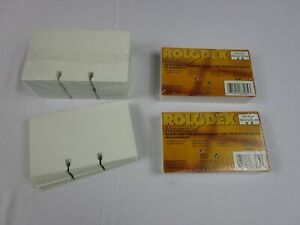 Rolodex 3x5 Inch Refill Cards 500 Blank Cards