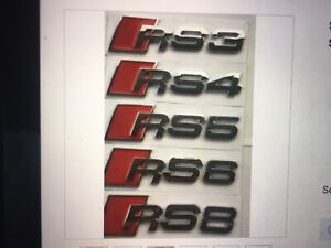 Rs3 Rs4 Rs5 Rs6 Rs8 Emblem Badge Logo Sticker