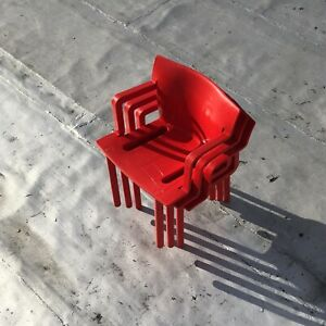C 1986 K 4870 Chairs By Anna Castelli Ferrieri For Kartell Stamped