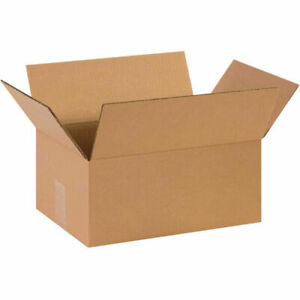 14x10x6 50 Pack Corrugated Cardboard Box Premium Packing Shipping Boxes