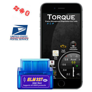 Bluetooth Obd2 Car Scanner Diagnostic Tool Auto Scan Adapter For Android Us Ship