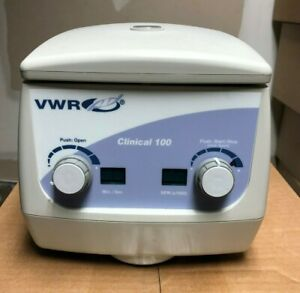 Vwr Clinical 100 Centrifuge With Iso iec 17025 Calibration Prior To Shipping