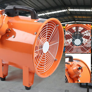 110v 12 Explosion proof Axial Fan Cylinder Pipe 370w 4500m3 h F Kitche Factory