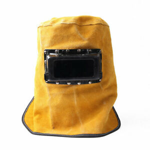 Welding Helmet Face Mask Leather Hood Weld Welder Filter Lens Protector Bs40