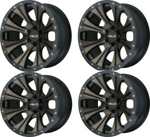 Set 4 18 Helo He901 18x9 Satin Black Dark Tint 6x135 Truck Wheels 0mm Rims