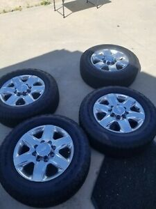 2020 Chevy 2500hd Wheels Tires Set Oem Factory Polished 20