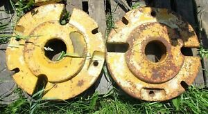 Lot Of 2 Used John Deere Tractor Rear Wheel Weights M343t at15588t No Shipping