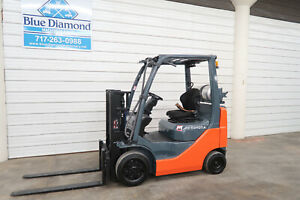 2013 Toyota 8fgcu20 4 000 Cushion Tire Forklift Sideshift Lpg 2 242 Hours