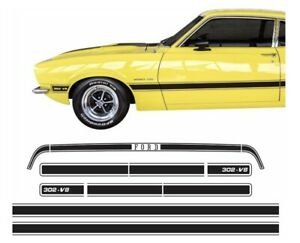 1973 1976 Ford Maverick Gt Model Brazilian Side Trunk Stripe Decal