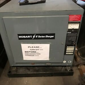 Hobart Accu Charger 36 Volt 1050 Amp Forklift Or Industrial Battery W 250ccll