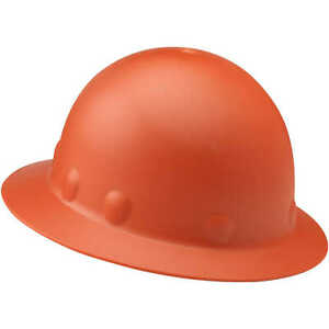 Fibre metal Roughneck P1 Full Brim Hard Hat W Ratchet Suspension Hi viz Orange