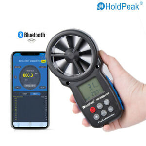 Wireless Anemometer Wind Flow Speed Meter Bluetooth App Air Chill Cfm Measure Us