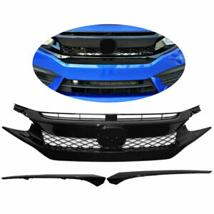 For 2016 2018 Honda Civic Honeycomb Front Bumper Grille Hood Mesh Grill Guards