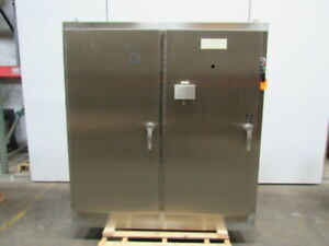 Hoffman A72h6618ss Stainless Steel Electrical Box Enclosure 72 x66 x18 2 Door