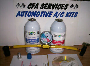 R12 Systems Refrigerant Compatible Recharge Kit For Pre 1995 Stop Leak Oil