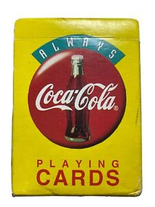 Coca-Cola Playing Cards Plastic Coated New Open Box (old stock box is lil torn)
