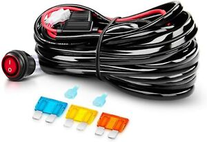 Nilight 10ft 14awg Led Light Bar Wiring Harness Kit Relay On off Switch 1 Lead