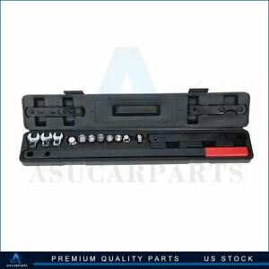 16pcs Gear Wrench Serpentine Belt Tension Tool Kit Automotive Repair Set