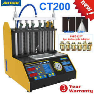 Ct200 6 Cylinder Car Motorcycle Injector Cleaner Ultrasonic Fuel Injector Tester