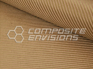 Tan Fabric Made With Kevlar 2x2 Twill Weave 1500d 50 127cm 6 2oz 210gsm