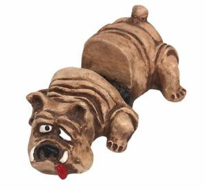 Vintage Shade Tree Creations British English Bulldog Business Card Holder Marine