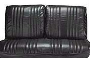 1968 Impala Custom Front Bench W o Armrest Seat Covers Black 68bsn10b in Stk