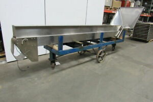 Stainless Steel 14 168 Vertical Incline Cleated Conveyor 6 Wide 90vdc