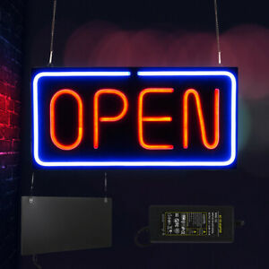 Super Bright Open Neon Sign Led Light Tube For Business Store Bar Shop 24x12