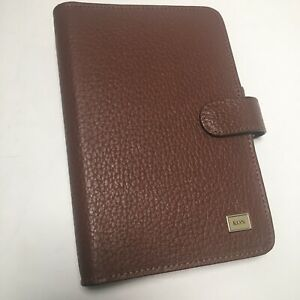 Day timer Portable Brown Leather Planner Organizer Fits Filofax Personal Kon
