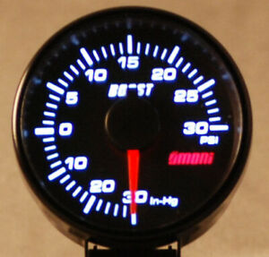 45mm Electrical Boost Turbo Gauge Audi Subaru Vw Mr2