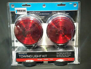 Reese Towing Lights Kit Magnetic Red