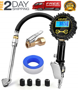Azuno Digital Tire Inflator With Pressure Gauge 200psi Heavy Duty Air Compressor