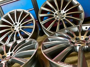 Mercedes 17 Inch E63 Gunmetal Rims Wheels Set4 New C300 C250 Cla250 E350 Amg