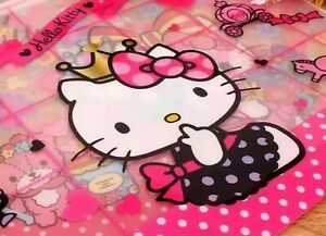 Hello Kitty sanrio A4 File Bag Document File Folder School Office Us Seller