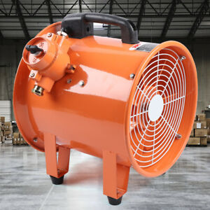 12 Inch Ex Axial Fan Explosion Proof Ventilator 110v 2650cfm Warehouse Safety Ce