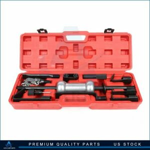 Heavy Duty Dent Puller With Slide Hammer Auto Body 10lbs Auto Repair Tool Kit 13pc